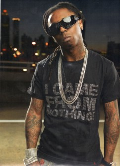 8732: I Came From Nothing Tee w/ Crystal applique