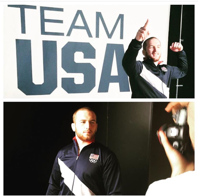Team USA core jacket wrestling world champ