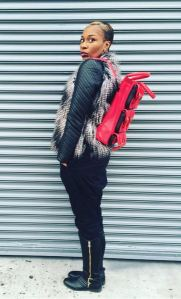 Lucid Moxie Red Leather Backpack